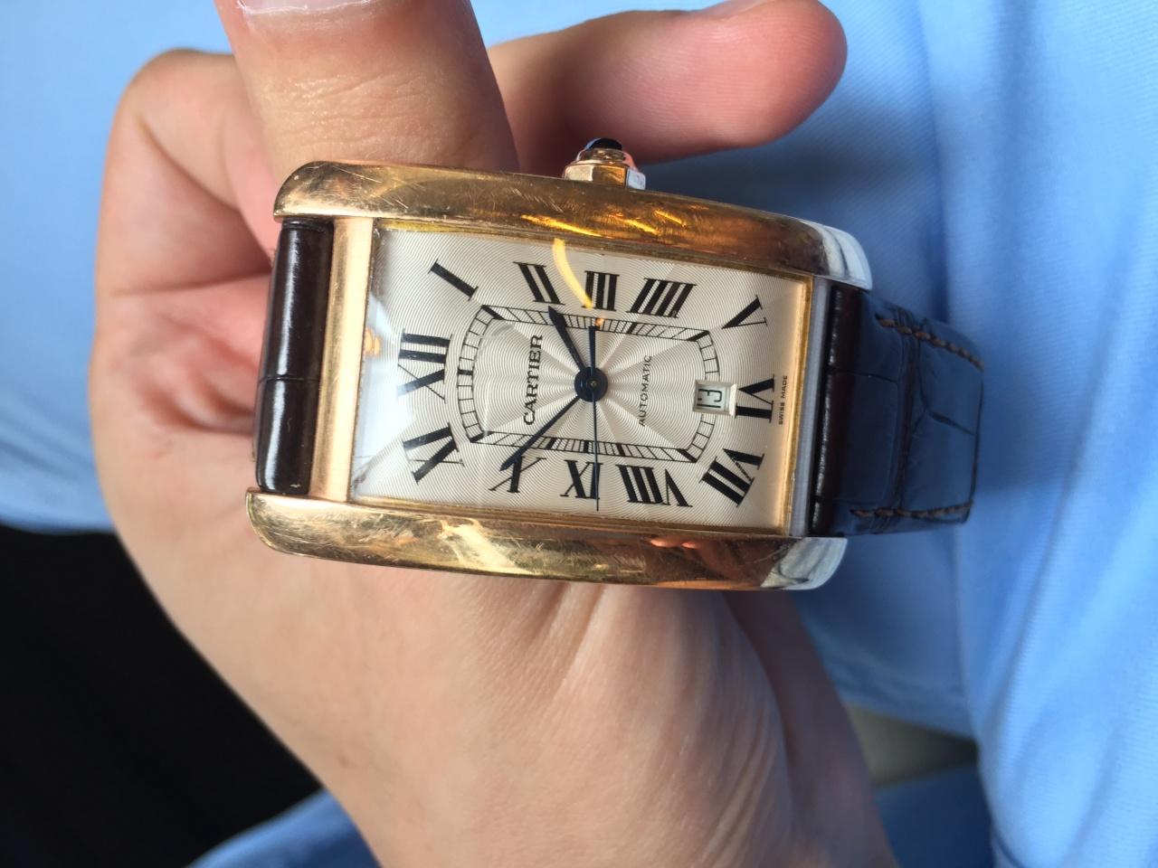 Cartier Tank Americaine XL Gold 2927 мужские - Часовой форум Watch.ru 06b256d1e57